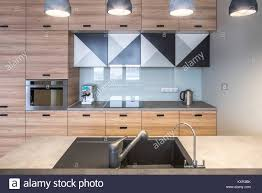Contemporary Kitchen Island Lighting Contemporary Kitchen With White Walls And Luminous Lamps