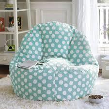 Blue Polka Dots Teen Bedroom Chairs With Shag Rub