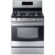 samsung stove lowes. Plain Samsung Samsung 5Burner Freestanding 58cu Ft Selfcleaning Gas Range Stainless Inside Stove Lowes Loweu0027s
