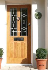 oak doors oak door glass panels