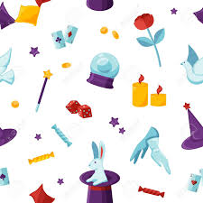 His musical background has a major influence on his stage act — an act that he conceived of and choreographed entirely on his own — and it shows. Magician Attributes Vector Seamless Pattern Soothsayer And Conjurer Royalty Free Cliparts Vectors And Stock Illustration Image 137057581