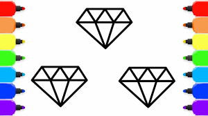 Small Picture Diamond Coloring pages for Kids How to draw Diamond Sosusu