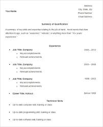 Example Of Simple Resume Beauteous Simple Resume Template 28 Free Samples Examples Format Download