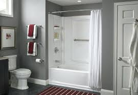 install a tub surround or shower love the color scheme here too bathtub and installing new
