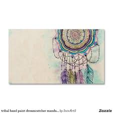 Dream Catcher Card Designs Tribal Hand Paint Dreamcatcher Mandala Design Zazzle Com