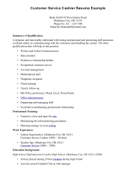 resume examples for cashier
