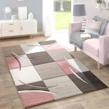 white living room rug. Grey Living Room Rug Pale Pink Beige Brown Pastel Colour Check Carpet Soft Mat Black And White Rugs O