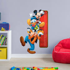 mickey mouse growth chart giant officially licensed disney removable wall decal wall decal fathead for mickey mouse decor