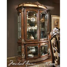 Curio Cabinet Lights Michael Amini Villa Valencia Curio W Lighting Box By Aico For