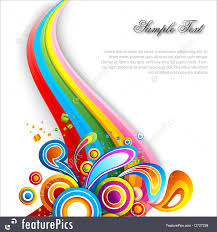 Swirls Templates Templates Colorful Elements Background With Colorful Swirls