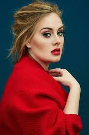 adele celebrities wearing red lipstick
