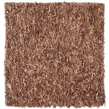 leather brown 8 ft x 8 ft square area rug