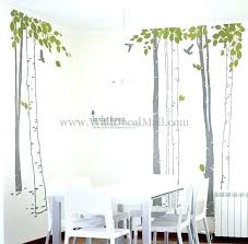 forest wall sticker birch tree and birds in the decals nice decal animal friends woodland