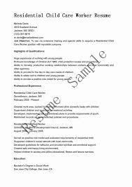 Direct Care Worker Cover Letter Child Care Worker Resume Sample Lovely Job Rio Ferdinands Of