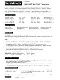 Regional Sales Manager Resume Retail Sales Manager Resume Department ...