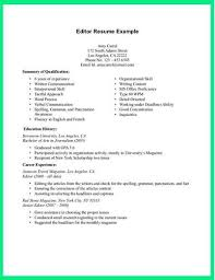 We Offer The Following Resume Editing Services
