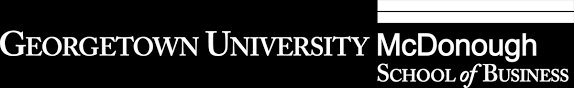 full time and evening mba admissions mcdonough school of  mcdonough school of business mcdonough school of business logo