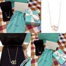 tiffany loving heart interlocking pendant rose gold women s fashion jewelry on carou