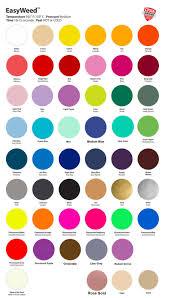 Siser Color Chart Siser Easyweed Htv Heat Transfer Vinyl Sheets
