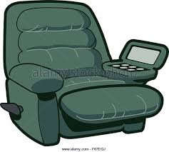 reclining chair ilration stock vector