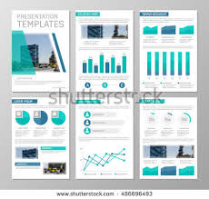presentation charts and graphs vector blue turquoise template multipurpose presentation stock photo