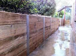 corrugated metal retaining wall clever designing inspiration walls sleeper steel posts galvanised and wood