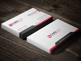 Professional Business Card Templates Vibrant Red Professional Business Card Template Cardzest