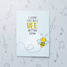 Get Well Card Bee Well Musical Get Well Card