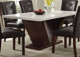 Majela Modern Marble Top Dining Table Set Contemporary Stone Top