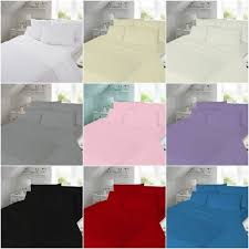 details about soft 100 brushed cotton thermal flannelette duvet cover bed sheets