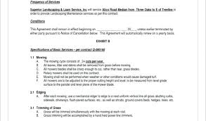 Landscaping Maintenance Contract Smma Info