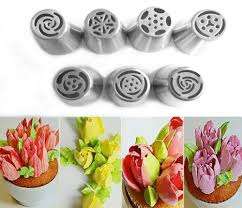 Dropshipping For 7pcs Stainless Steel Russian Icing Piping Nozzles