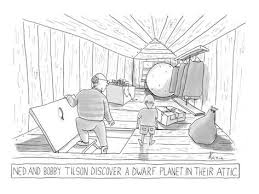 attic clipart black and white. Beautiful Black Father And Son Find Dwarf Planet In Attic  New Yorker Cartoon On Attic Clipart Black And White E