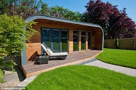 garden office space. contemporary space sleek design the adaptapod offers a roomy work space plus deck for those inside garden office space c
