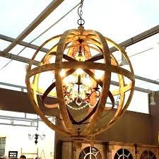 wood orb chandelier wood and metal orb chandelier best of metal globe chandelier for metal orb
