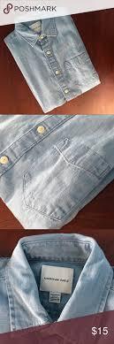 American Eagle Jean Size Chart A E O Denim Shirt Lightly Worn Amazing Condition
