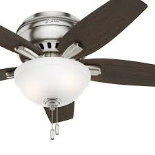 Low Profile Ceiling Fan With Light And Remote Details About Hunter Fan 42 Inch Low Profile Brushed Nickel Fan W Light Kit Remote Control