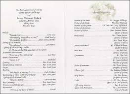 sample wedding ceremony program who should you include in your wedding program blog big fat cake