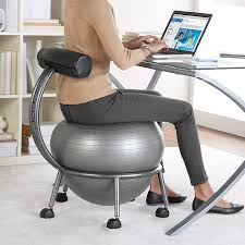 fitball balance ball chair bring the workout to your office awesome so need one right now