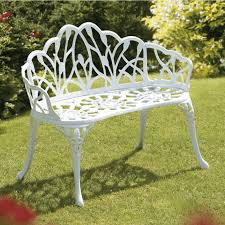 white iron patio furniture. Modren Patio New Ideas Metal Patio Bench And White Garden Outdoor  For Iron Furniture