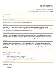 Pta Elections Flyer Pta Meeting Minutes