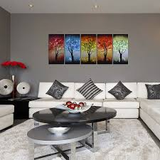 amazon from dusk till dawn colorful tree metal wall art decor large set of 5 decorative panels for kitchen or living room 64 x 24 home  on colorful metal wall art decor with amazon from dusk till dawn colorful tree metal wall art decor