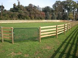 Wood Horse Fence Styles Fences Design