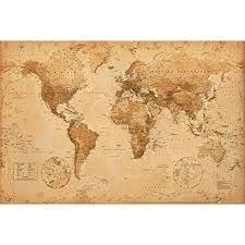 High Quality World Map World Map Antique Art 24x36 Poster High Quality Poster Print By Poster Stop Online Usa