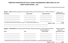 surety bond form surety bond form for councils and locals treasurer