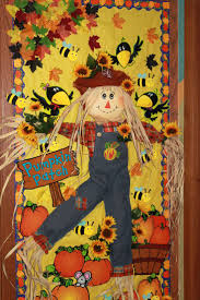 classroom door decorations for fall. Fall Bulletin Board. Love The Idea To Incorporate A Real Scarecrow Stick Puppet In Classroom Door Decorations For M