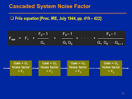 cascaded system noise factor friis equation proc
