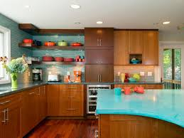 Mid Century Modern Design Ideas Modern Kitchen Pleasant Mid Century Modern Kitchen In Brown Color With Blue