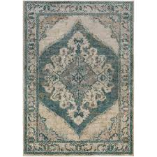 surya marrakesh teal 8 ft x 10 ft indoor area rug