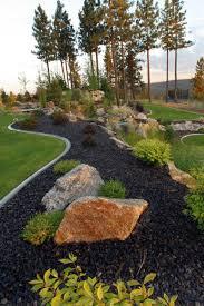 Garden Ideas:Black Lava Rock For Landscaping Rock For Landscaping to give  Natural Atmosphere on